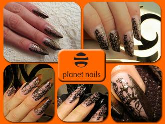 фото дизайна ногтей выполненных с использованием материалов Planet Nails