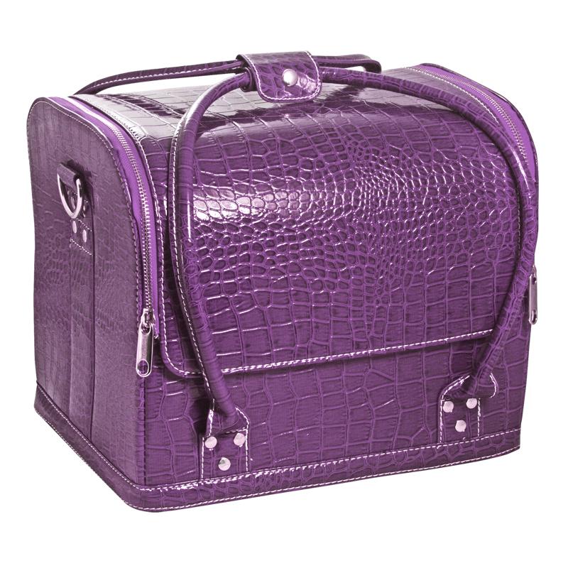 Сумка-чемодан фиолетовая