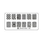 Пластина для Stamping Nail Art №45