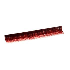 Ресницы на полосках красные, соболь 6 мм, 10 полосок