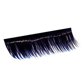 Ресницы на полосках синие, соболь 15 мм, 10 полосок