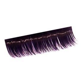 Ресницы на полосках фиолетовые,соболь 15мм, 10 полосок