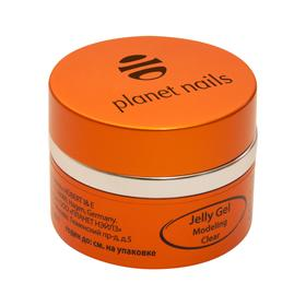 Гель-желе Planet Nails - Modeling Clear Jelly Gel конструирующий, прозрачный 30г