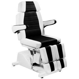 """Кресло педикюрное электрическое """"Гранд"""" черно-белое (3 мотора) (10289), стул мастера (10301) в комплекте"""