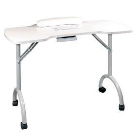 """Стол для маникюра складной с пылесосом """"Space Plus"""" белый"""