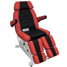 """Кресло педикюрное электрическое """"Гранд"""" черно-красное (3 мотора) (10323), стул мастера (10316) в комплекте"""