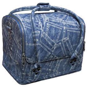 Сумка-чемодан джинс