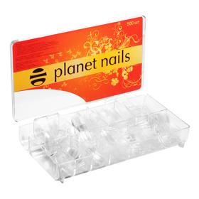 Типсы Planet Nails прозрачные 500 шт/уп №1-10