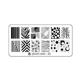 Пластина для Stamping Nail Art №31