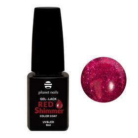 "Гель-лак Planet Nails, ""Red Shimmer"" - 831, 8мл"