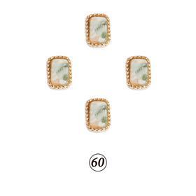 Натуральные камни в оправе в ассорт. 4 шт/уп