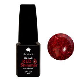 "Гель-лак Planet Nails, ""Red Shimmer"" - 832, 8мл"